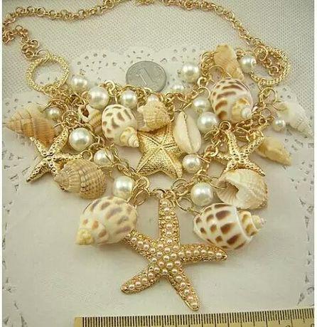 Ожерелье колье из ракушек русалочка