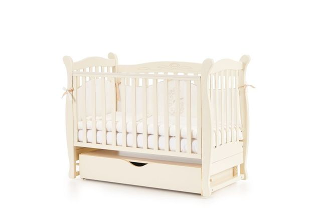 Детская кроватка Верес ЛД15 (маятник, ящик, колесики, матрас)