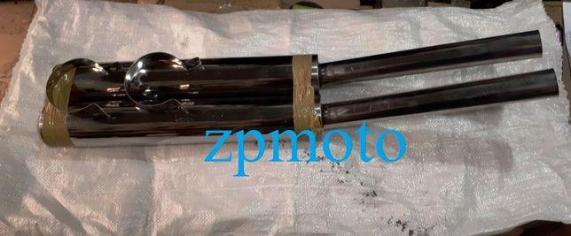 Глушители трубы выхлопные JAWA 634 638 2 шт. Нержавейка 81 см, Ø - 41