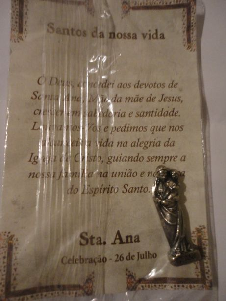 Imagem Sta. Ana - Celebração 26 de Julho - Santos da Nossa Vida