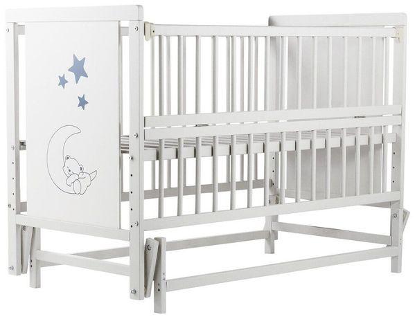 Ліжко Babyroom Ведмедик\Зірка Бук (маятник, відкидний бік)Безкоштовна