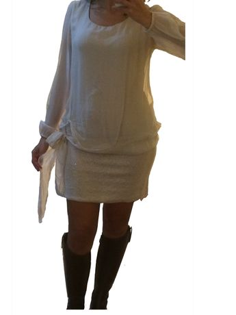 Vestido curto branco S (it 40)
