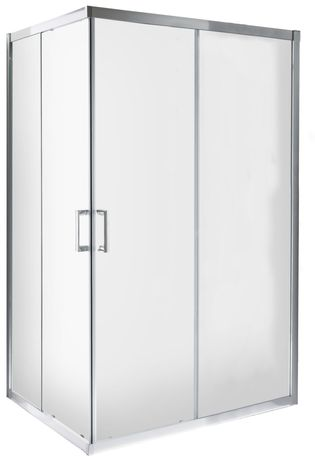Kabina prysznicowa rozsuwana prostokątna narożna MEXO 80x120x185 cm