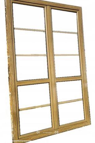 Okno balkonowe złoty dąb