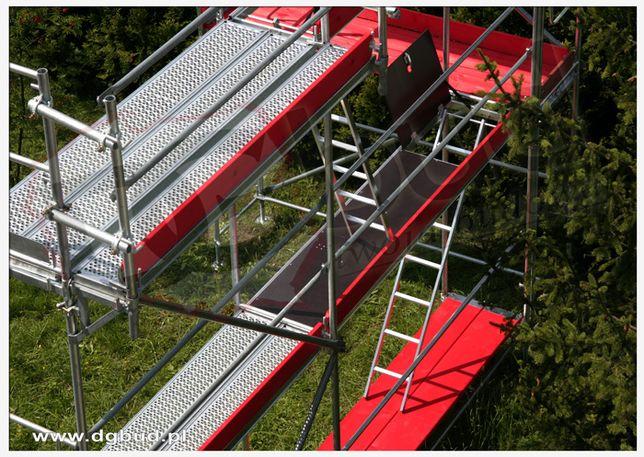 Rusztowania Fasadowe Budowlane typ Plettac 153,6 m2 Dotacja