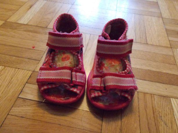 sandałki kapcie wkładka 12cm buty