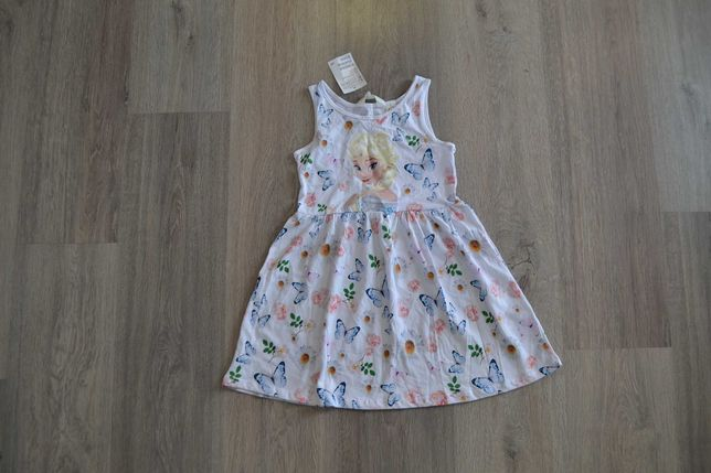 Новое платье-сарафан с Эльзой ф. H&M р. 4-6 лет 110-116 см с биркой