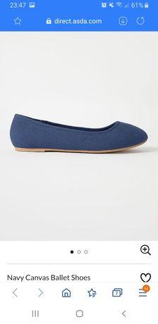 Тканевые балетки, туфли George, размер 4, 35-36 стелька 22,5 см