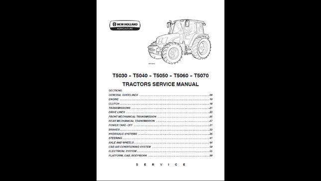 New Holland T5030-T5070 instrukcja napraw SERWISOWA!