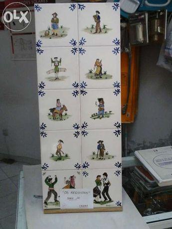 """Conjunto 10 azulejos tema """"Os regionais"""""""