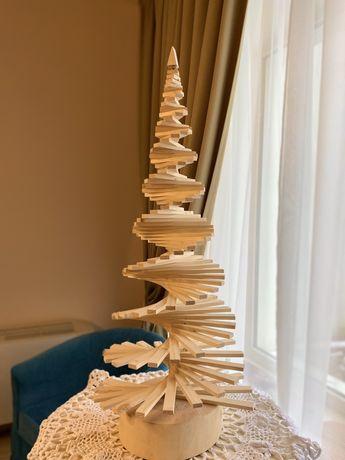 Деревянная Новогодняя елочка «Юла» высотой 110 см
