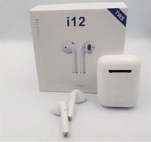 Bluetooth наушники I12 AirPods c боксом Черные , розовые Оплата на по
