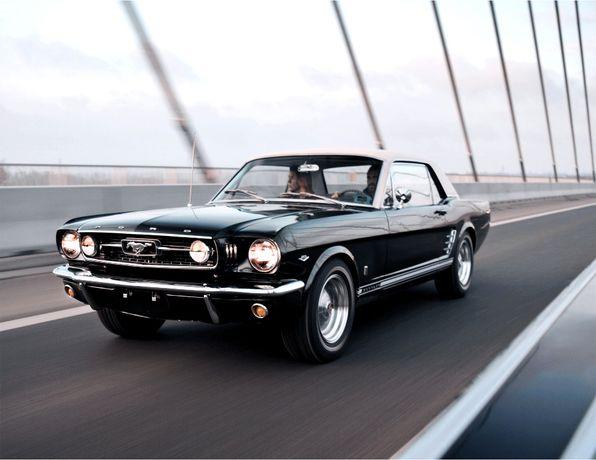 1966 Ford Mustang GT 289 V8 225KM Ivy Green Metallic auto do ślubu!
