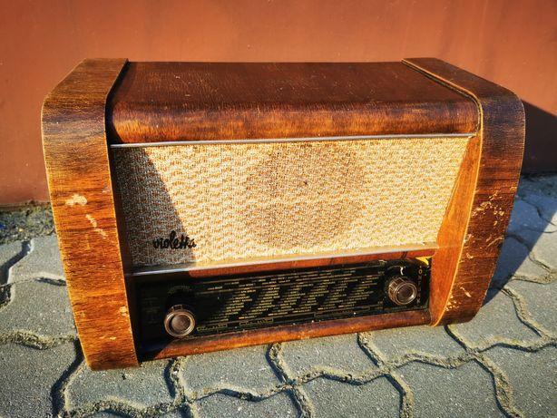 Stare radio lampowe Violetta z Niemiec