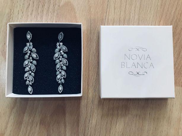 Kolczyki Novia Blanca - model Lisa Silver + bransoletka