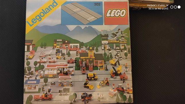 LEGO 302 placas / bases rectas NOVAS 1978