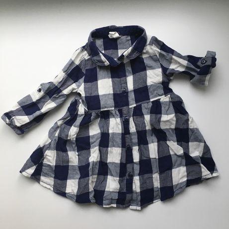 Платье-рубашка H&M на рост 74 см