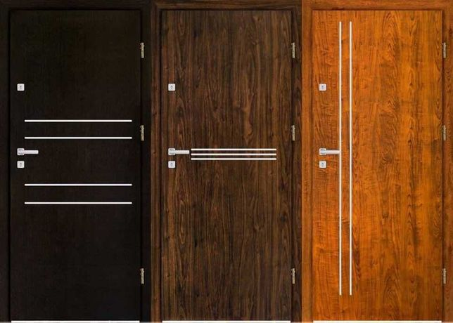 Drzwi ZEWNĘTRZNE-metalowe i drewniane do mieszkania w bloku z MONTAŻEM