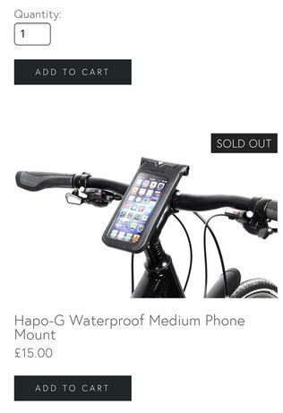 Водонепроницаемый держатель для телефона на руль велосипеда