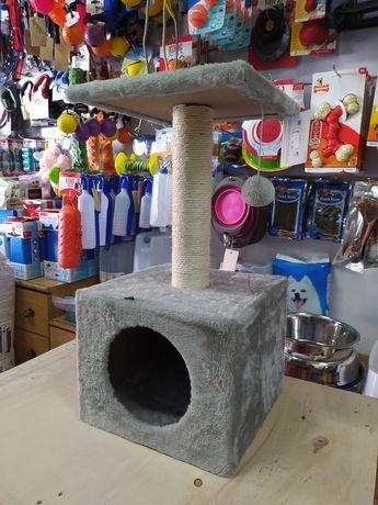 Arranhador gato com esconderijo e plataforma 60cm
