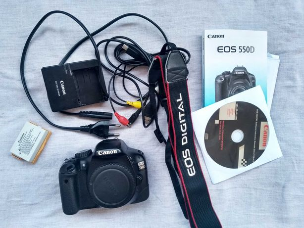 Canon 550d body kompletny zestaw