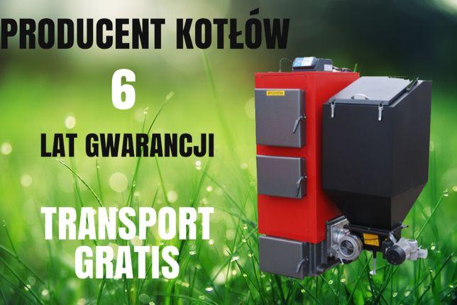Kotły 20 kW do 120 m2 Kocioł na EKOGROSZEK z PODAJNIKIEM Piec 17 18 19