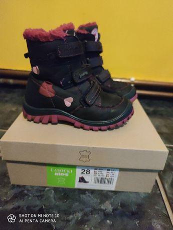 Buty skórzane dla dziewczynki rozmiar 28