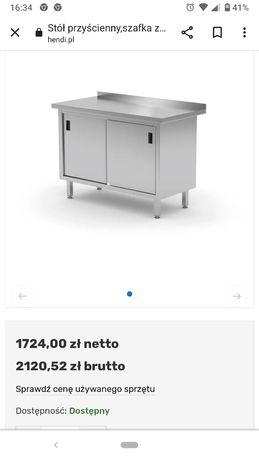 Sprzedam stół roboczy przyścienny z szafką