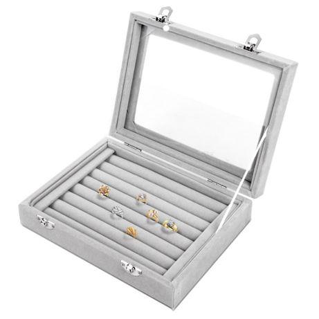 Szkatułka etui pudełko organizer na pierścionki B4