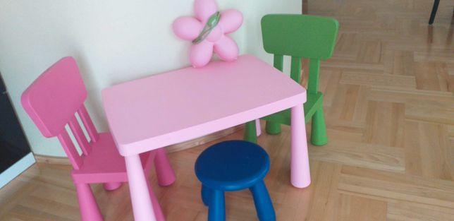 Stolik +krzesełka+lampka