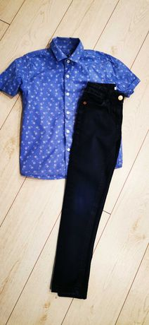 Spodnie M&S koszula next 128