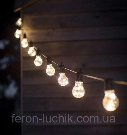 Гирлянда уличная с лампами накаливания