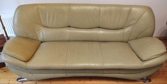 komplet skorzany, zestaw sofa i fotele