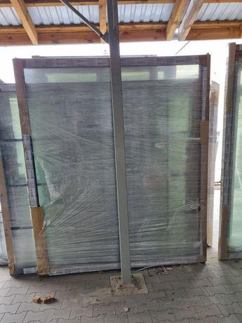 Okno fix stałe szklenie, złoty dąb zewnątrz wewnątrz białe, 1960x2310