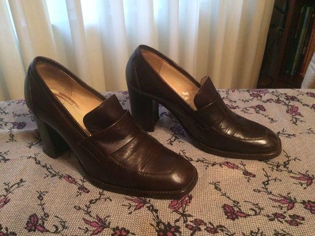Sapatos senhora pele castanho tamanho 36