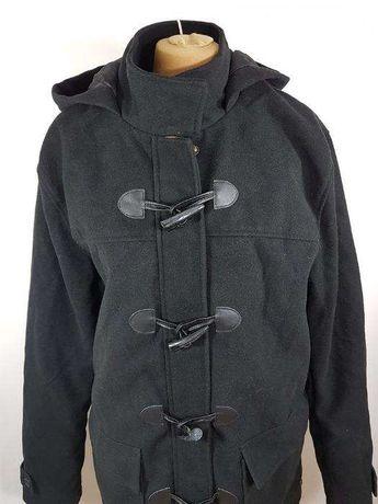 KANGOL płaszcz męski czarny CZARNY ROZ XL