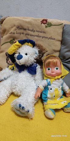Пакетом лотом игрушки Маша и Медведь