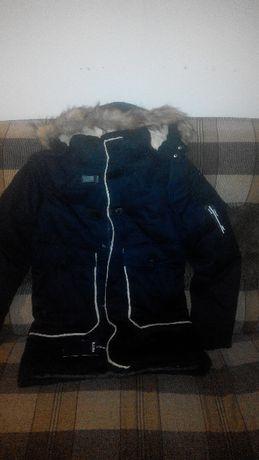 куртка зимняя мужская тёмно синяя