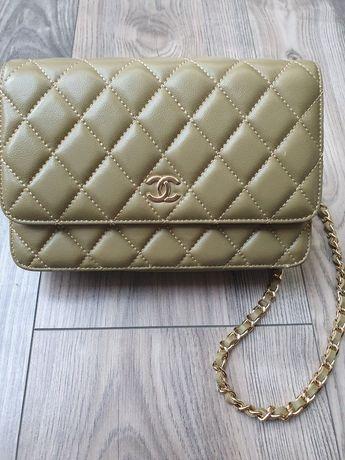 Nowa skórzana torebka typu Chanel