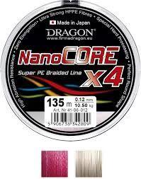 Plecionka Dragon NanoCORE X4 Czerwona 270m 0.10mm
