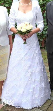 Koronkowa suknia ślubna - stan idealny