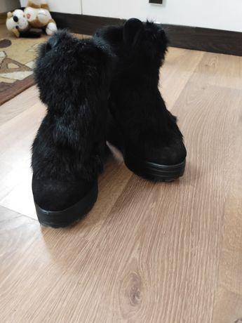 Зимние полусапожки/ботинки 37р (23 см)
