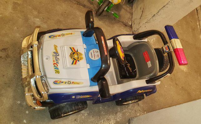 Samochód elektryczny policyjny, dla dzieci