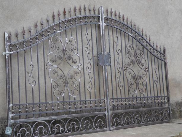 Brama dwuskrzydłowa wjazdowa kuta do willi dworku bramy wjazdowe olx
