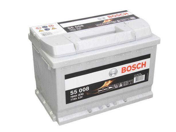 Аккумулятор BOSCH Silver 6ст-77А/ч R+ S5008