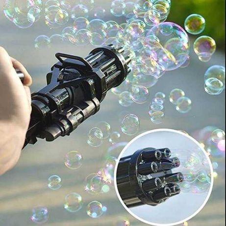 """Пистолет, пулемет с мыльными пузырями """"Миниган"""" генератор пузырей"""
