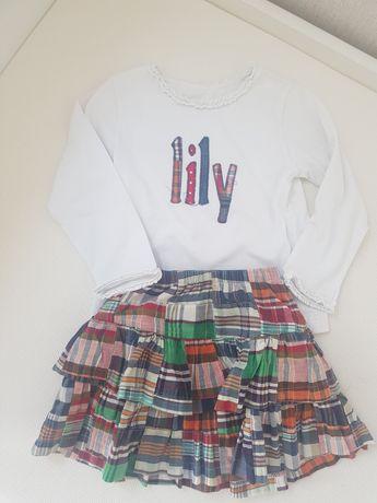 Komplet zestaw spódniczka bluzka