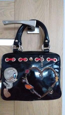 UNIKAT Braccialini włoska oryginalna torebka kuferek shopper crossbody
