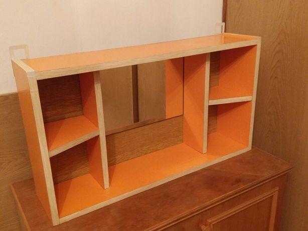 Szafka, półka łazienkowa z lustrem. Pojemna 82 x 45 cm. PRL