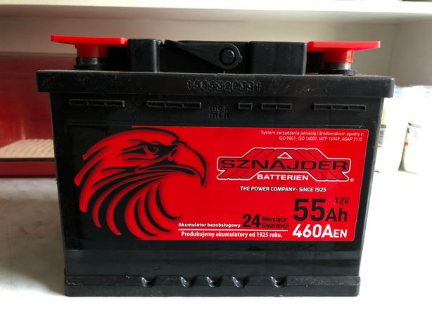 Akumulator samochodowy SZNAJDER 12V 55Ah 460A